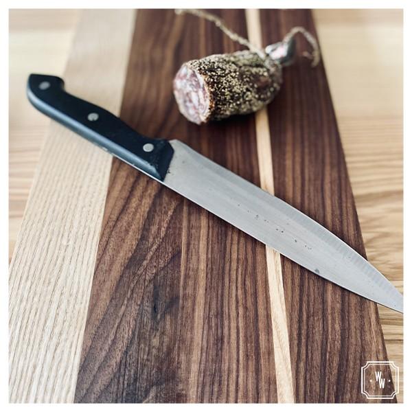 Cutty 1 - Planche à découper en frêne et noyer