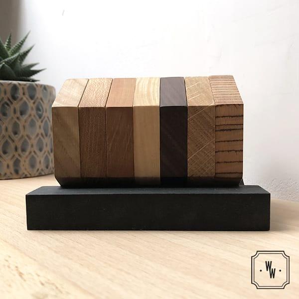 Essences de bois, projet sur mesure - dessous de verre, déco et dessous de table